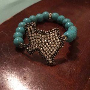 Texas bling bracelet